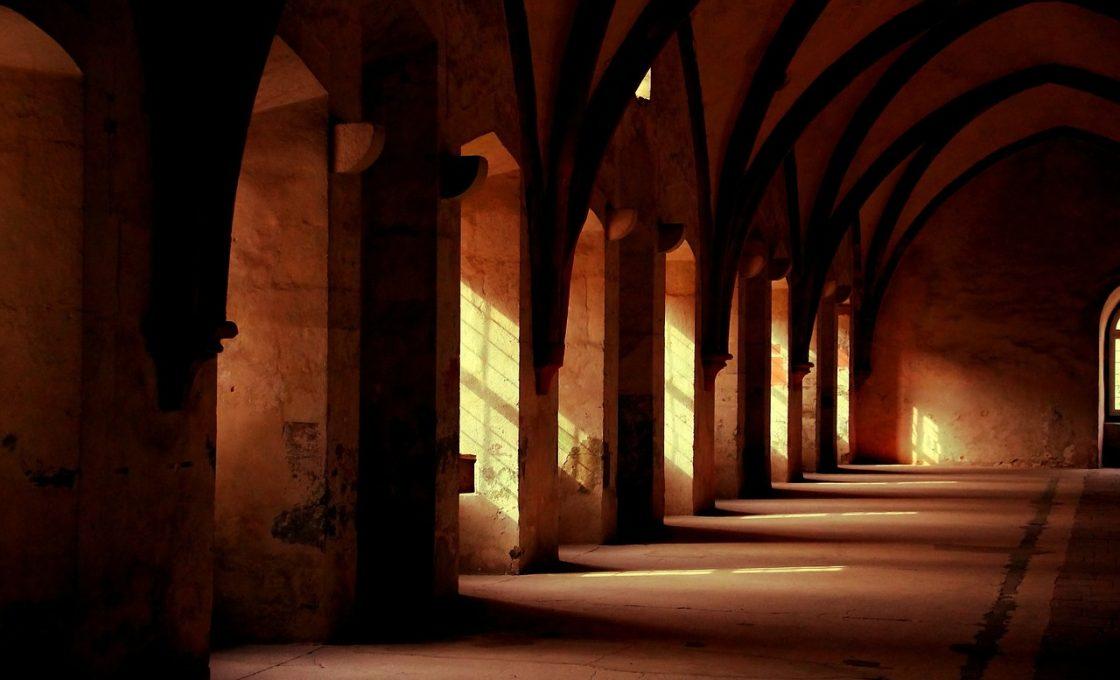Monastery Hallway Ancient Building